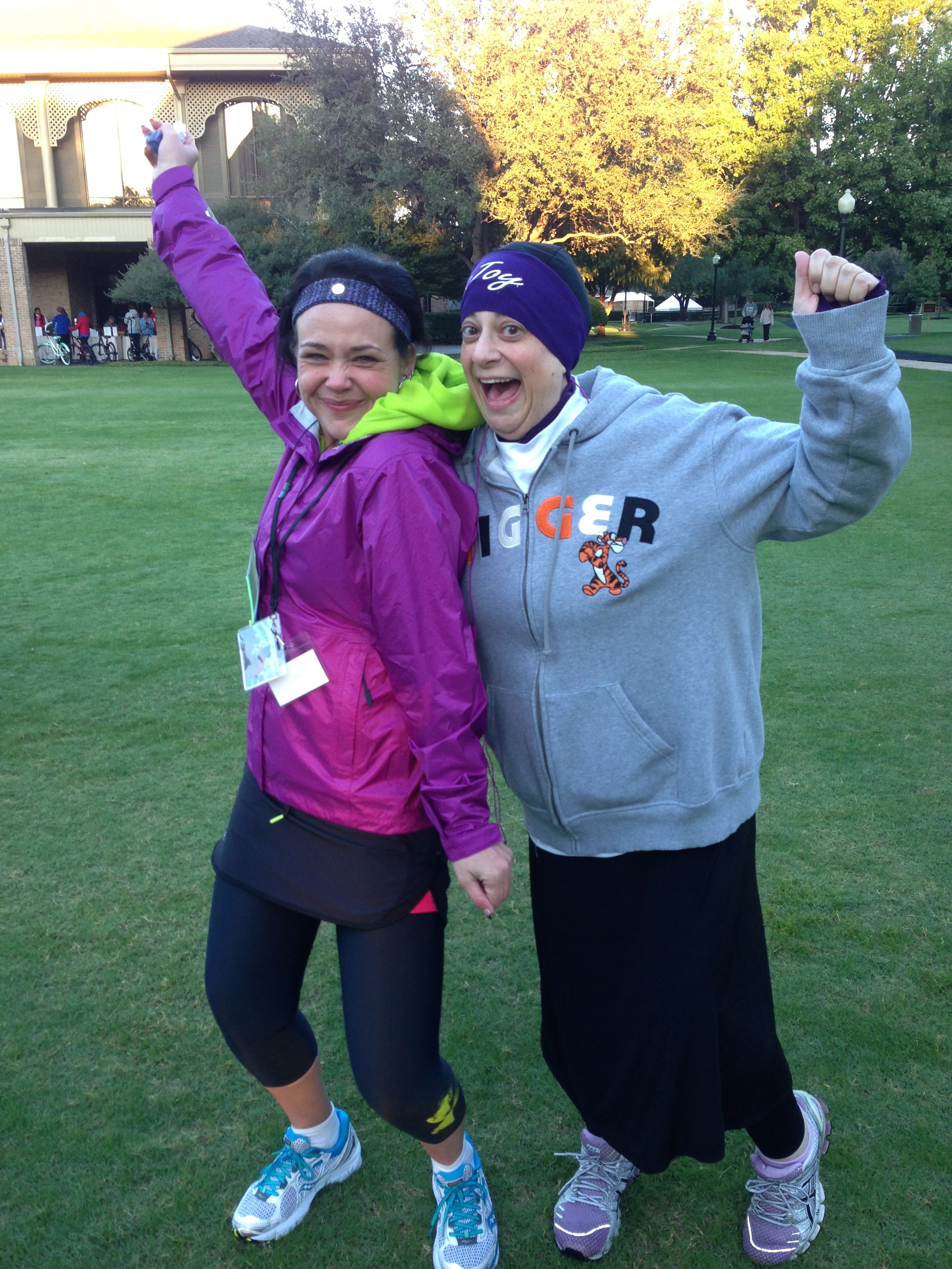 Another picture of my fellow Disney loving WLS BFF Joy Muller and I after we ran our FIRST 5K at the Walk from Obesity in Dallas TX Oct. 2012